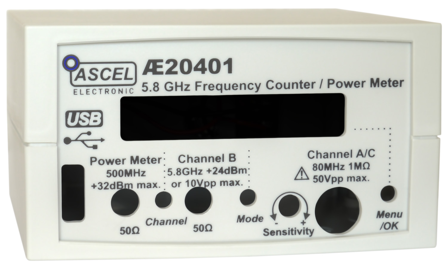 Ae20401 58 Ghz Frequency Counter Rf Power Meter Pulse Radio Watt Case