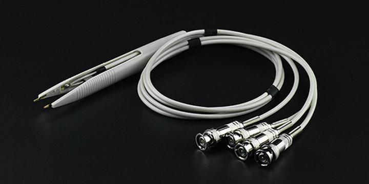 Vierleiter (Kelvin) Messpinzette 4x BNC für RCL Meter, Komponententester