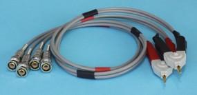 Vierleiter (Kelvin) Messzangen 4x BNC für RCL Meter