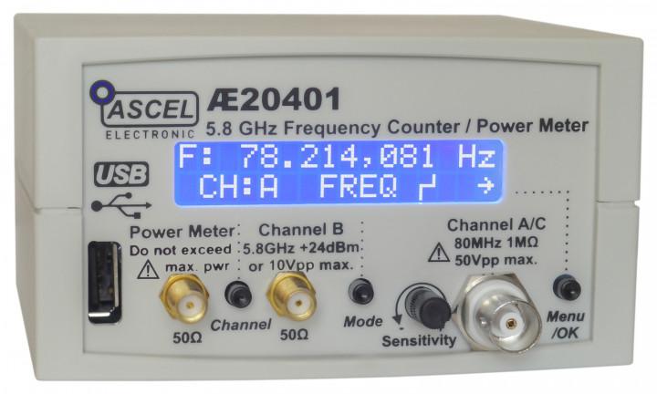 AE20401 5.8 GHz Frequenzzähler / RF Power Meter